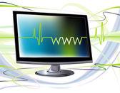 Computer online — Stock Vector