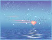 Celestial love — Stock Vector