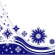 Royalty-Free Stock Vector Image: Winter frame with snowflakes