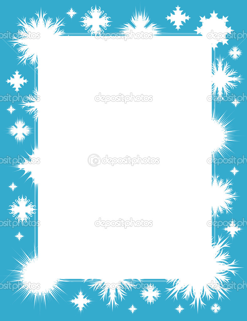 Winter frame with snowflakes, vector illustration  Stock Vector #1711587