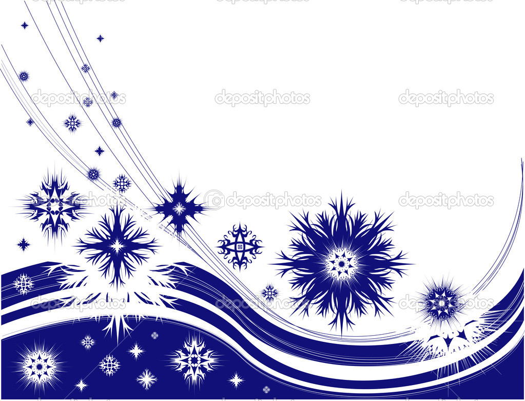 Winter frame with snowflakes, vector illustration — Stock Vector #1711977