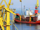 Black sea cargo port in Odessa, Ukraine — Stock Photo