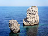 Two rocks at the sea — Stock Photo