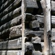 Old wooden home Construction Detail - Stock Photo