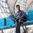 Man in airport — Stock Photo