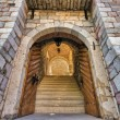 Arches in Old town, Budva Montenegro — Stock Photo #1750512