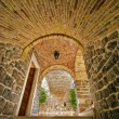 Arches in Old town, Budva Montenegro — Stock Photo #1750528