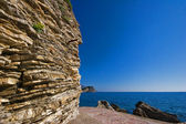 Adriatic rocks on a blue sky background — Foto Stock