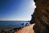 Adriatic rocks and sea — Stockfoto