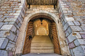 Arches in Old town, Budva Montenegro — Stock Photo