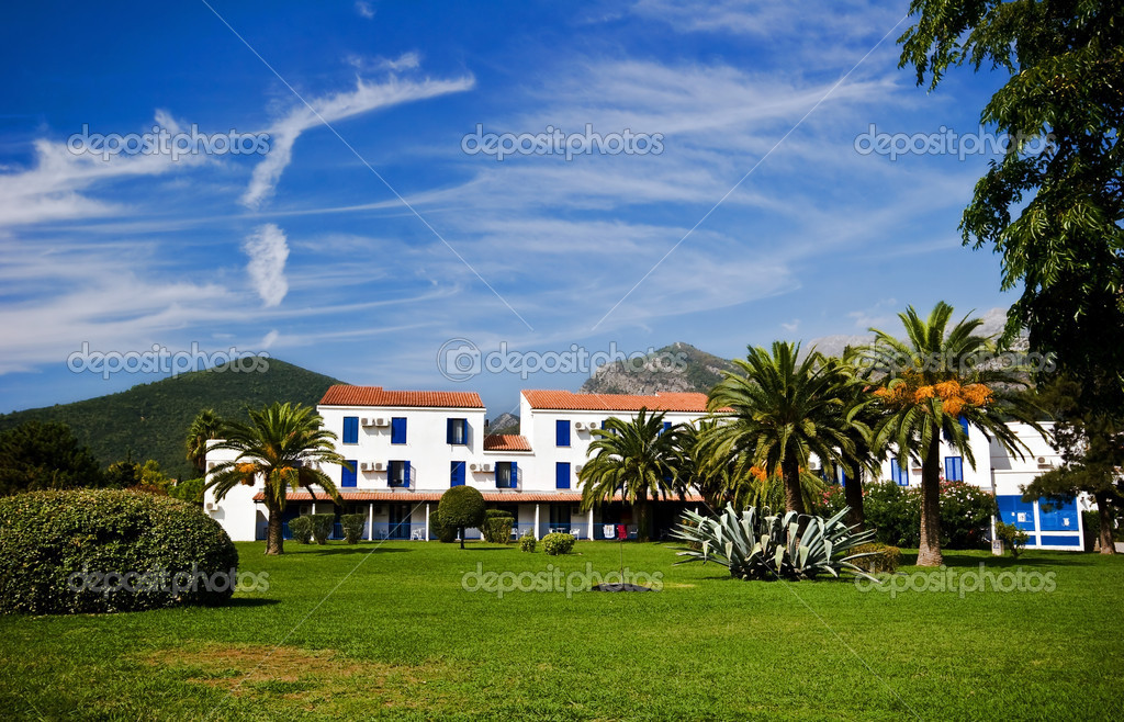 Amazing hotel in Budva, Montenegro — Stock Photo #1750177
