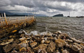 Old pier in Budva — Stock Photo