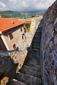 Path around Old town in Budva — Stock Photo