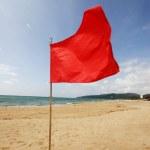 Red warning flag — Stock Photo
