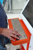 Bright orange keyboard — Stock Photo