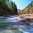 Stock Photo: Rapid mountain river