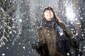 Female in snow — Stock Photo