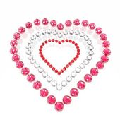 Heart from enamoured spheres — Stock Photo