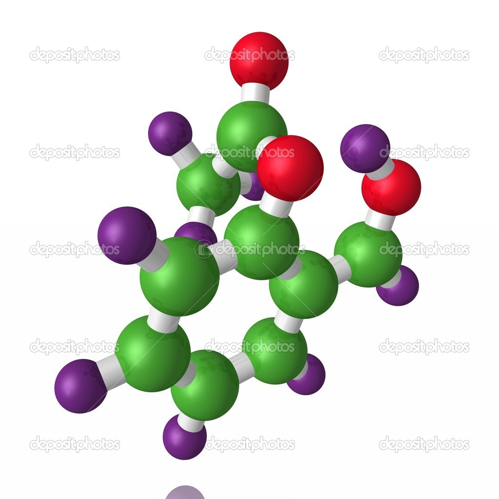 Model of a molecule of aspirin from color spheres — Stock Photo #1765288