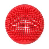 Sphere from red spheres — Stock Photo