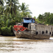 Stock Photo: Mekong River Boat
