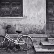 Stock Photo: Bicycle and House Vietnam