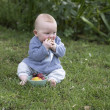 Baby Boy eating fruit — Stock Photo #1710495