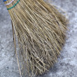 Straw Broom — Stock Photo