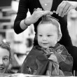 Stock Photo: First Haircut