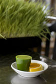 Wheat Grass Shot — Stock Photo