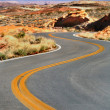 Stock Photo: Winding Road Nevada
