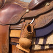 Western Saddle — Stock Photo