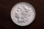 Morgan Silver Dollar — Stock Photo