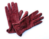 Red Leather Gloves — Stock Photo
