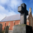 Stock Photo: Red Brick Church