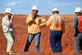 Gold Mine workers — Stock Photo