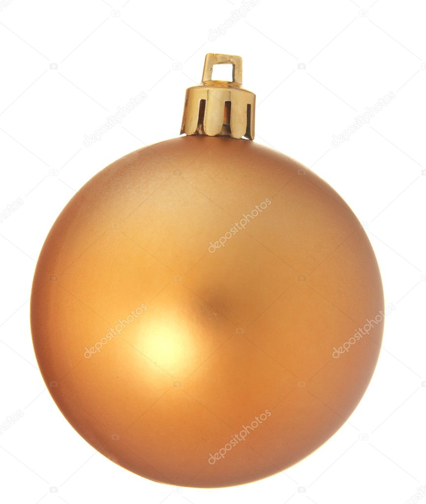 Christmas ball over white background  Stock Photo #1730707
