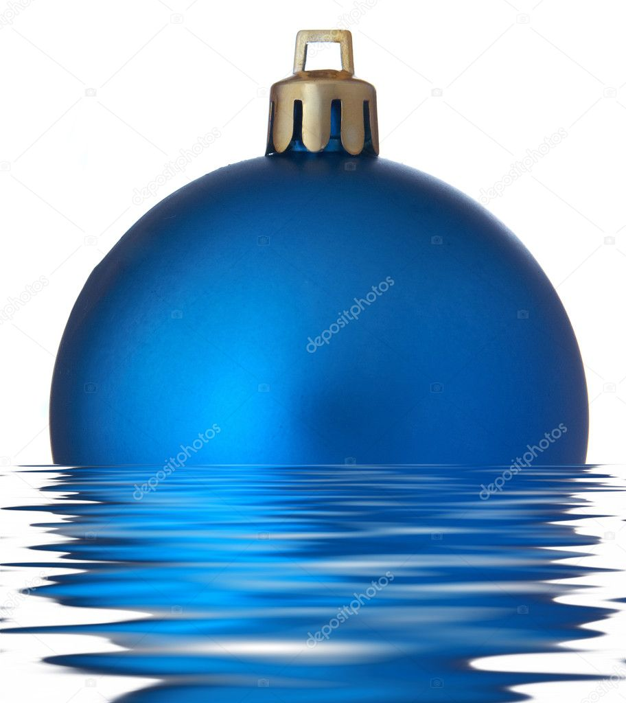 Christmas ball over white background — Stock Photo #1730958