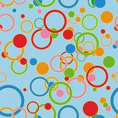 指輪やサークルとのシームレスなパターン — ストックベクタ