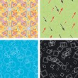 Set of chaotic seamless pattern — Stok Vektör #1949019