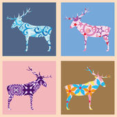Seamless pattern with deers — Stock Vector