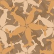 Seamless pattern with hares - Stok Vektör