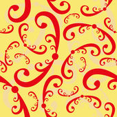 Seamless curled repeat pattern — Vector de stock
