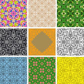 Set of arabesque seamless pattern — Stock Vector
