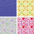 Set of chaotic seamless pattern — Stok Vektör #2080645