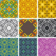 Set of arabesque seamless pattern — Stock Vector #2101618