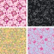 Set of chaotic seamless pattern — Stok Vektör #2171304