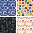 Set of chaotic seamless pattern — Stok Vektör #2234165