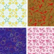 Set of chaotic seamless pattern — Stok Vektör #2454742