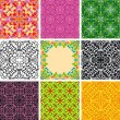Set of arabesque seamless pattern - Stock Vector